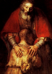 Return of the Prodigal Son, (detail) by Rembrandt Van Rijn