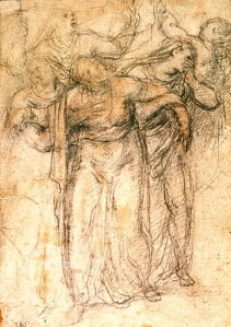 Study of Women Mourning by Michanelangelo Buonarroti