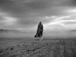woman alone in the desert