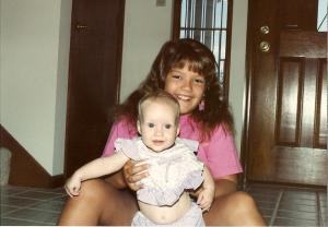 with baby Katie Crossman